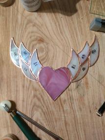 After cutting and foiling, but I ended up lowering the wings